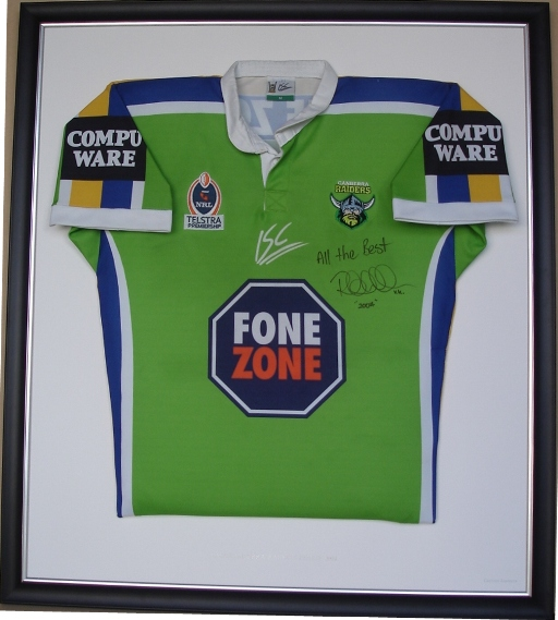 Ruben Wiki Canberra Raiders League Jersey Custom Framers