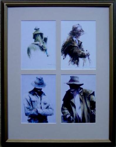 4 Prints in frame