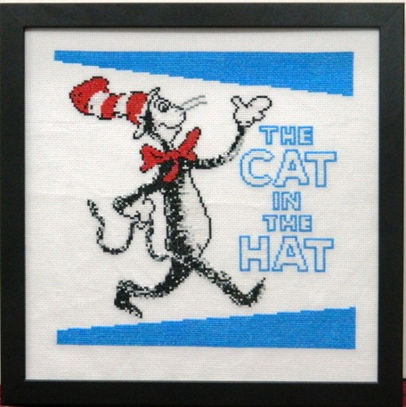Cat and Hat Embroidery