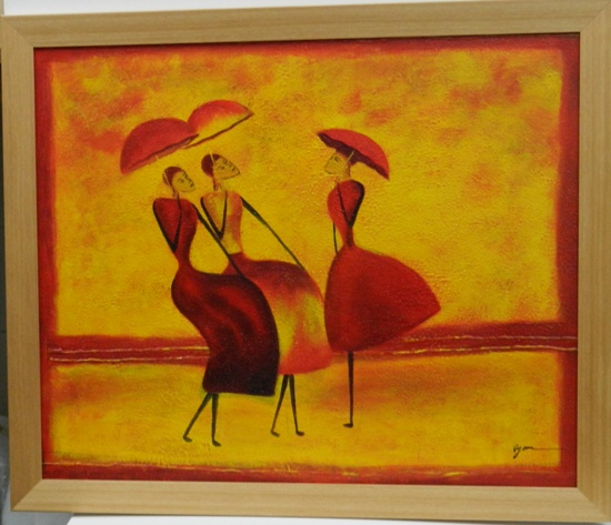 Rimu Frame Oil Painting