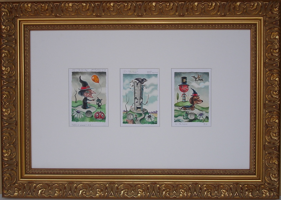 Three Prints In A Frame