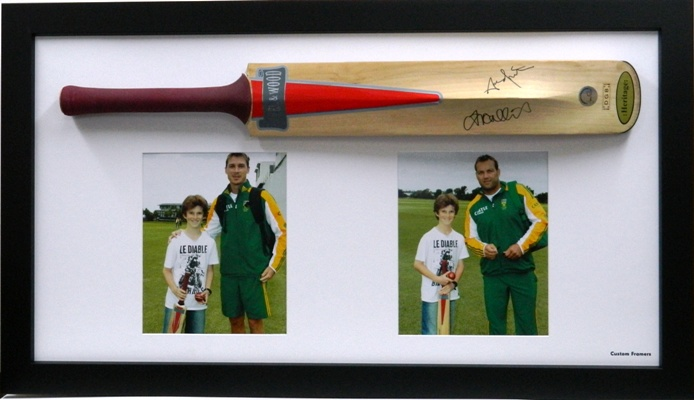 Cricket bat & photos