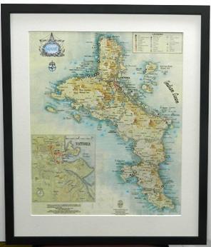 Map Framed with Matt Board Surround
