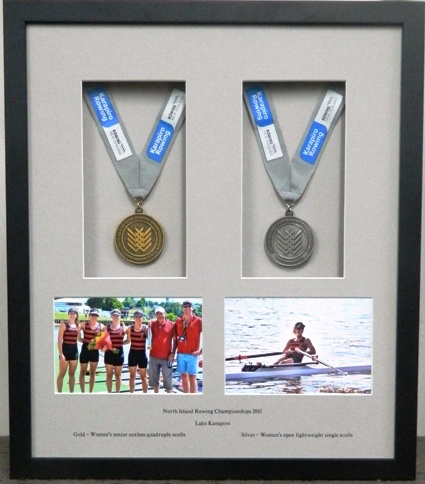 Rowing Gold and Silver Medals