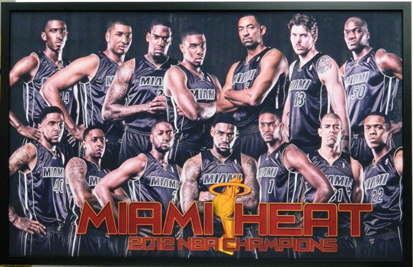 Miami Heat Basketball Poster