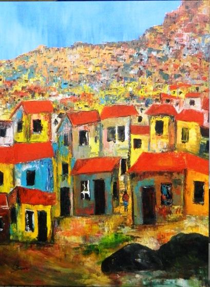 European Village Canvas