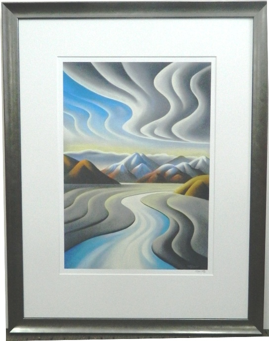 Winding river print