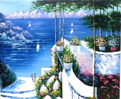 Boats And Flower canvas
