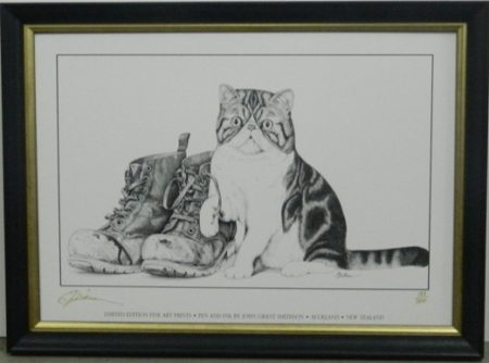 Cat and Boots drawing