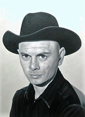 Yul Brynner canvas painting on stretcher frame