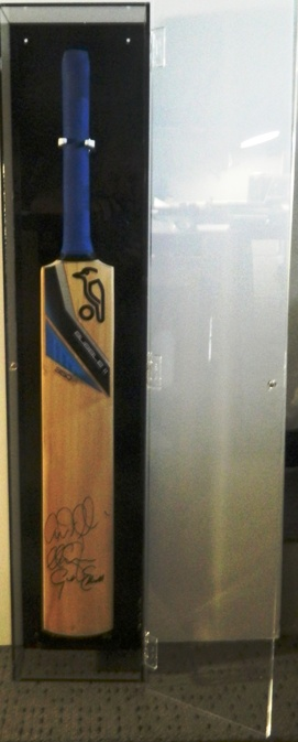 Cricket Bat in perspex case
