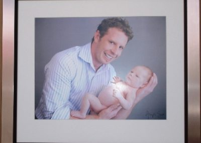 Dad & Baby framed photo