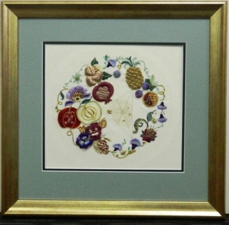 Gold Frame Embroidery