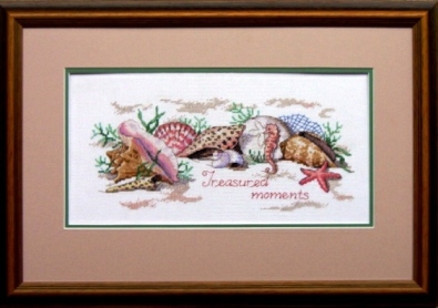Framed Shell Embroidery