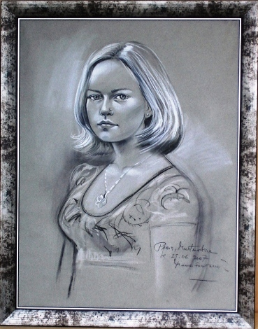 Female Pastel Drawing