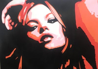 Red Lady Stretch Canvas