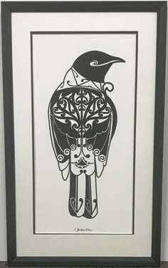 Bird Print Double matted
