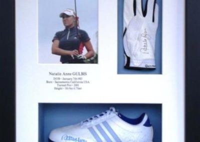 Natalie Gublis Golf Glove & shoe