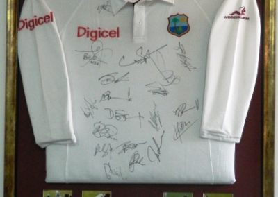 Signed West Indies 2012 Cricket Shirt With photos