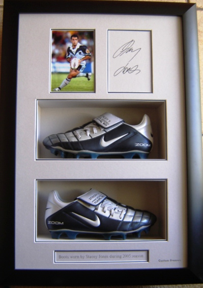 Stacey Jones  Signed Football Boots