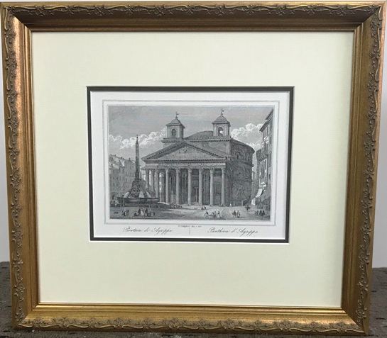 Italian Building with ornate frame