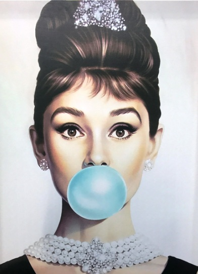 blue bubble gum canvas