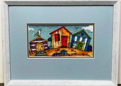 Beach Hut Embroidery