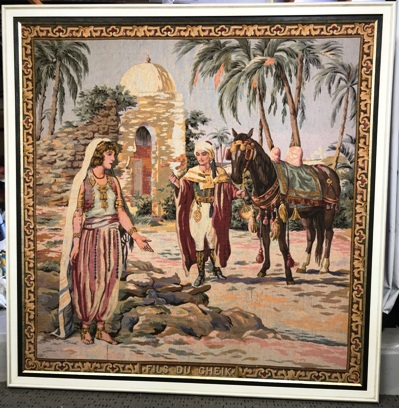 Egyptian Tapestry double framed