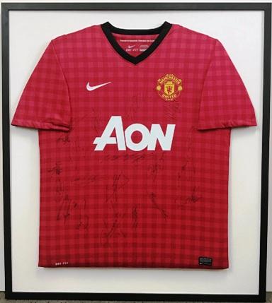Signed Man Utd Tartan Shirt