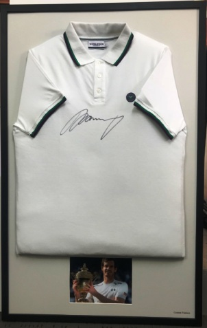 Signed Andy Murray Wimbeldon Tennis shirt