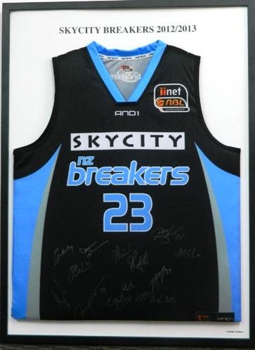 Signed 2012 & 2013 Breakers Singlet