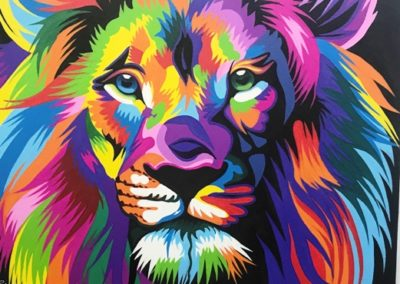 Lion Head canvas
