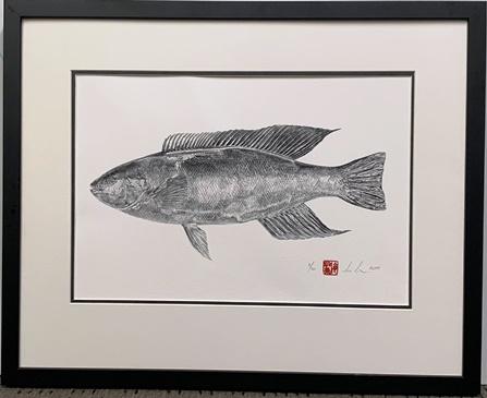 Monk Fish Print