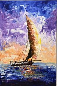 Dow Sailing vessel Canvas Painting