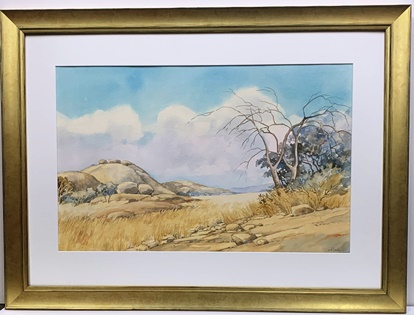 New Gold frame Watercolour print