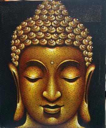Gold Laced Budda Canvas