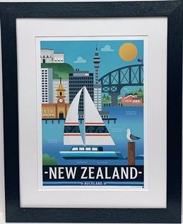 Auckland Harbour print