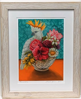 Flowers and Parrot print
