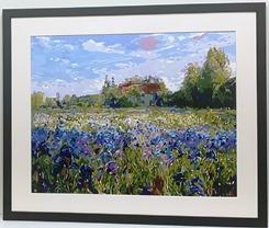 Flowers in a field canvas