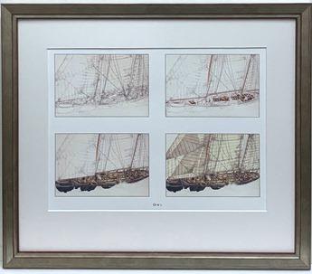 Four Sailing Ships